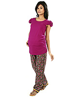 Buy Nine Brown Comfy Maternity Pajama In Floral Print