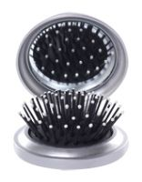 Barbie  -  Silver Mirror Cum Brush 3 Years , Mirror Cum Brush
