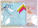 Buzzy Blue Plain Baby Gift Set - Pack Of 7