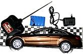 Adraxx Brown Dashing Sports Remote Control Car With Lights