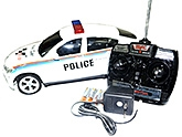 Adraxx White BMW X6 Police Car With Full Function Remote And Lights