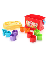 Fisher-Price - Brilliant Basics - Baby's... 6 Months+ ,10 colorful blocks to sort, stack and dro...