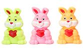 Buy Toyzone Rabbit Vinyl Squeezy 3.5 Inch Toy 3 Pieces