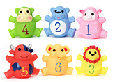 Buy Toyzone Animal Vinyl Squeezy 3.25 Inch Toy 6 Pieces