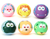 Toyzone Ball Vinyl Squeezy 2.5 Inches Toy 6 Pieces