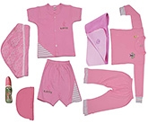 JO Kidswear Pink Clothing Gift Set With Cap