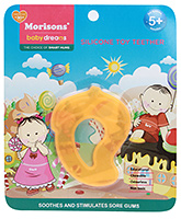 Buy Morisons Baby Dreams Silicone Toy Teether Orange Mango Shaped