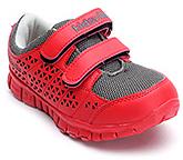 Buy Kids Ville Net Upper Velcro Strap Sports Shoes - Red