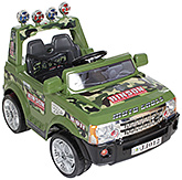 Fab N Funky Battery Operated Moto Cross Print RC Ride On Car   - Green