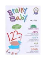 Fun and Learn CD/DVD/Movies - Brainy Baby - Set Of 4 DVD's