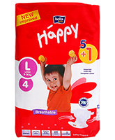 Bella Baby  Happy Diapers Large (9 - 14 Kg), 5 + 1 Pieces, Imported from Europ...