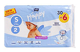 Bella Baby  Happy Diapers Small (3 - 8 Kg), 30 + 6 Pieces, Imported from Europ...