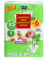 Bella Baby  Happy Diapers Extra Small (2 - 4 Kg), 30 + 6 Pieces, Imported from...