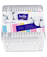 Bella Cotton - Cotton Buds 200 Pieces, 100% Pure Cotton Buds