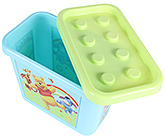 Buy Disney Pooh and Friends Print Multiblock Box 8 Litre - Blue and Green