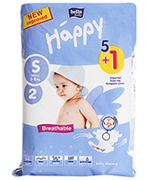Bella Baby - Diaper Small (3 - 8 Kg), 5+1 Pieces