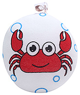 Buy Crab Print Bath Sponge - Red