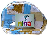 Buy Nina Feeding Pillow Teddy Print - Blue