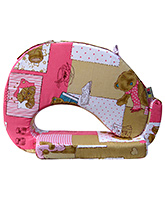 Buy Nina Feeding Pillow Teddy Print - Pink