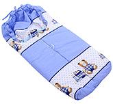 Montaly Sleeping Bag Teddy Print - Blue