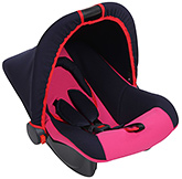 Dual Colour Carry Cot With Canopy Pink - Upto 9 Kg