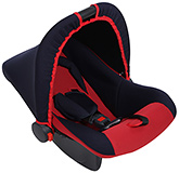 Dual Colour Carry Cot With Canopy Red - Upto 9 Kg