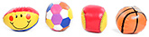Multicolored and Printed Baby Balls - Set of 4