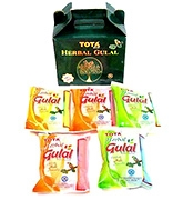 Buy Tota Herbal Gulal Gift Pack 100 gm - Pack of 5 Assorted Colors