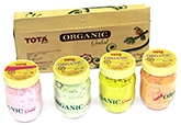 Buy Tota Organic Gulal Gift Pack 125 gm - Pack of 4 Assorted Colors