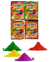 Buy Vedant Herbal Gulal Pouch 100 gm - Pack of 4 Assorted Colors