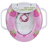 Soft Baby Potty Seat Strawberry Print Pink