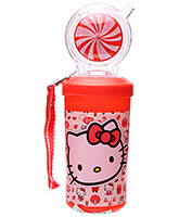 Buy Hello Kitty Water Bottle with Circular Straw Red - 500 ml