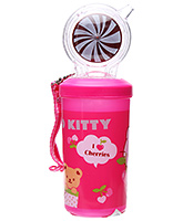 Buy  Hello Kitty Water Bottle with Circular Straw Dark Pink - 500 ml