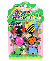 Bag Story Eraser with Insects Shape for Kids - Set of 6