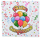Paper Napkins Balloon Print  White - 20 Pieces