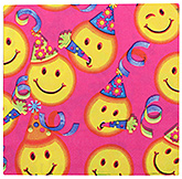 Paper Napkins Smiley Print Pink - 20 Pieces