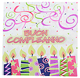 Paper Napkins Candle Print White - 20 Pieces