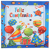 Buy Paper Napkins Feliz Cumpleanus Print  Blue - 20 Pieces