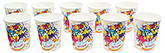 Buy Paper Cups Happy Birthday and Cake Printed White - Pack of 10
