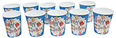 Buy Paper Cups Happy Birthday Printed  Blue  - Pack of 10