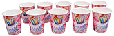 Buy Paper Cups Cake and Balloon Printed  Pink  - Pack of 10