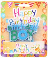 Buy Birthday Candle Multicolor - Birthday Boy Theme