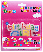 Buy Birthday Candle Multicolor - Birthday Girl Theme