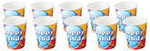 Buy Paper Cups Balloons Printed Blue and Orange - Pack of 10