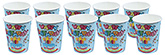 Buy Paper Cups Cake with Candle Printed  Sky Blue - Pack of 10