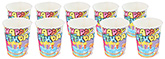 Buy Paper Cups Cake With Candle Print Blue - Pack of 10