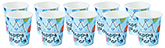Buy Paper Cups Stars And Balloons Print Sky Blue - Pack of 10