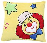 Fab N Funky Baby Pillow Cushion Joker Print - Yellow