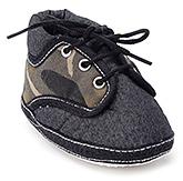 Buy Littles Black Denim Baby Booties