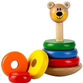 Tidlo Wooden Wobbly Bear Stacker